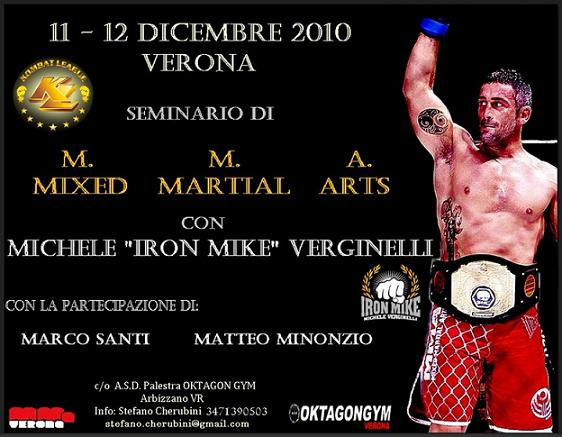 Stage michele quot iron mike quot verginelli a verona in data 11 12 dicembre